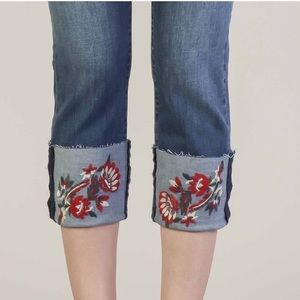 NWT Dear John Embroidered Cropped Jeans Size 26